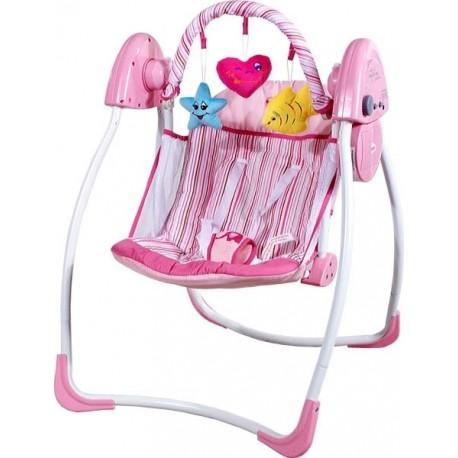 Sdraietta altalena dondolo automatico Cuore rosa