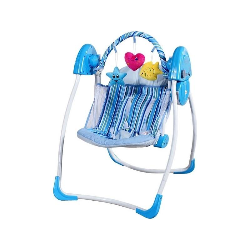 Sdraietta altalena dondolo automatico cuore blu altalene for Altalena a dondolo