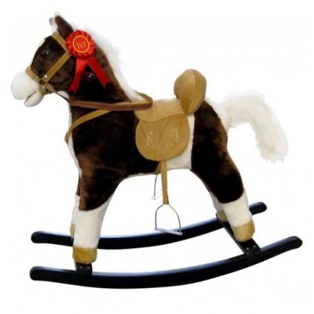 Cavallo a dondolo Mustang marrone scuro