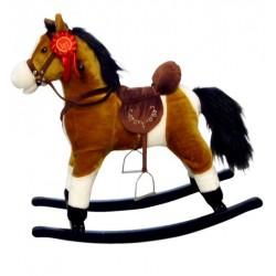 Cavallo a dondolo Mustang marrone