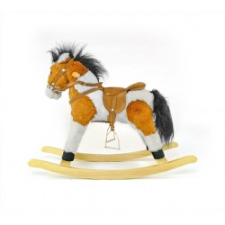 Cavallo a dondolo Pony marrone