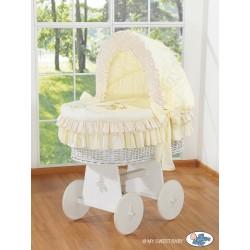 Culla neonato vimini Orsacchiotto - Crema-bianco