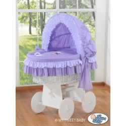Culla neonato vimini Orsacchiotto - Viola-bianco