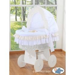 Culla neonato vimini Orsacchiotto - Bianco