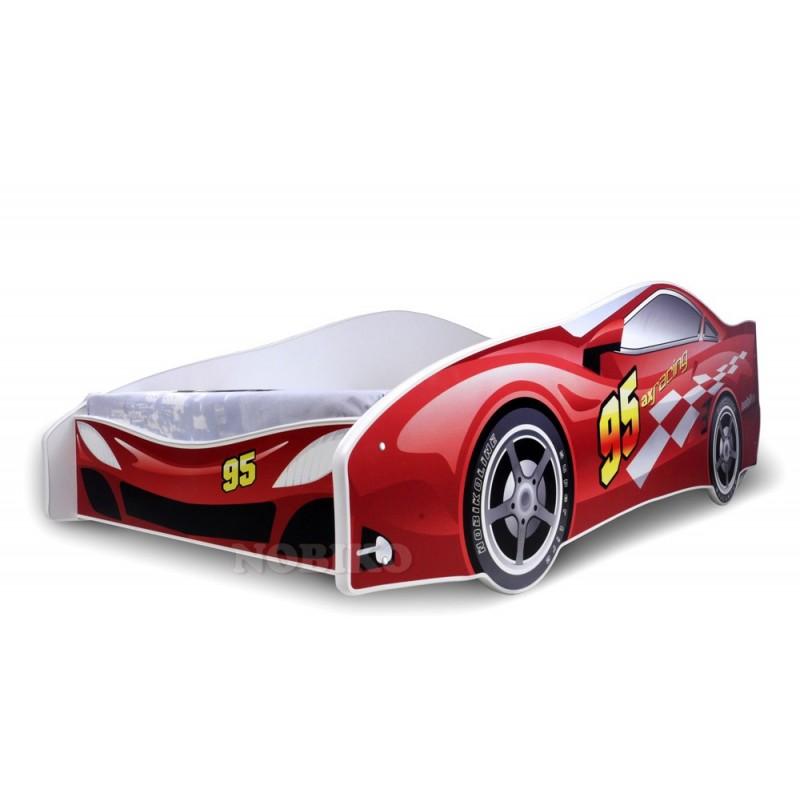 Letto macchina rossa con materasso 180x80 cm letti a forma - Letto bimbo macchina ...