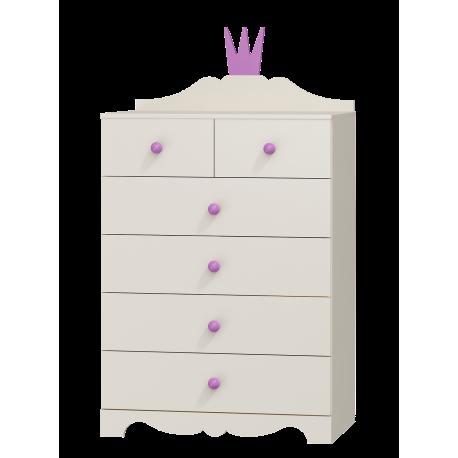 Comò Principessa 6 cassetti