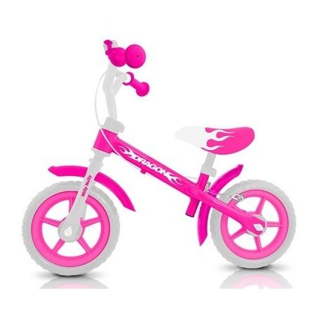 DRAGON - bici senza pedali con freno - rosa