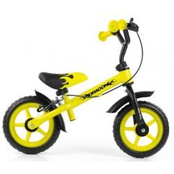 DRAGON bici senza pedali con freno - giallo