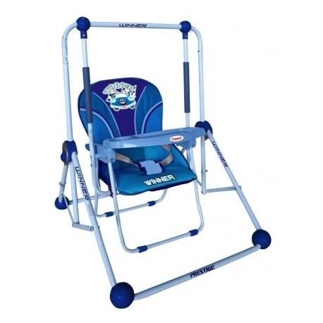 Altalena e sedia 2 in 1 blu