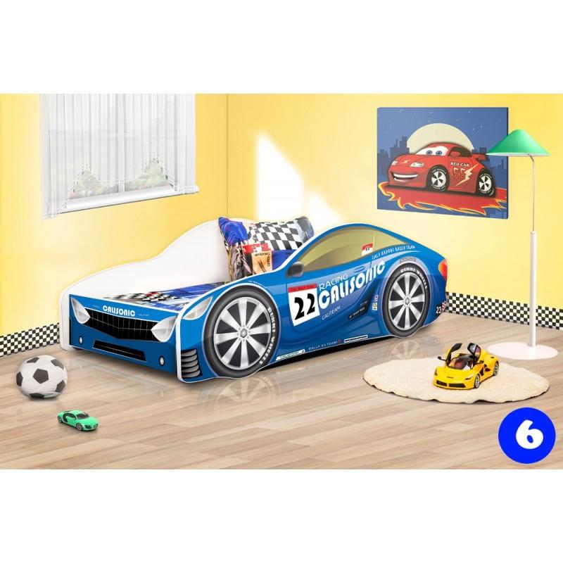 Lettino macchina auto con materasso 140x70 cm letti a - Letto bimbo macchina ...