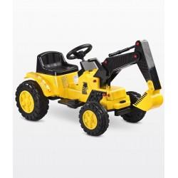 Auto elettrica Digger Scavatrice giallo