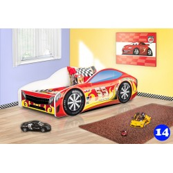 Letto macchina da corsa con materasso 180x80 cm