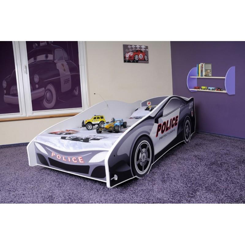 Letto macchina della polizia con materasso 180x80 cm letti - Letto bimbo macchina ...