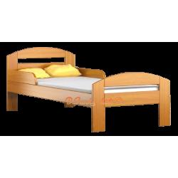 Lettino singolo bambino in legno di pino massello Tim2 160x80 cm