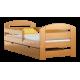 Lettino in legno di pino Kam3 con cassetto 160x70 cm