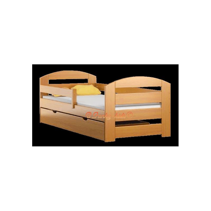Letto singolo in legno di pino massello Kam3 con cassetto 180x80 cm...