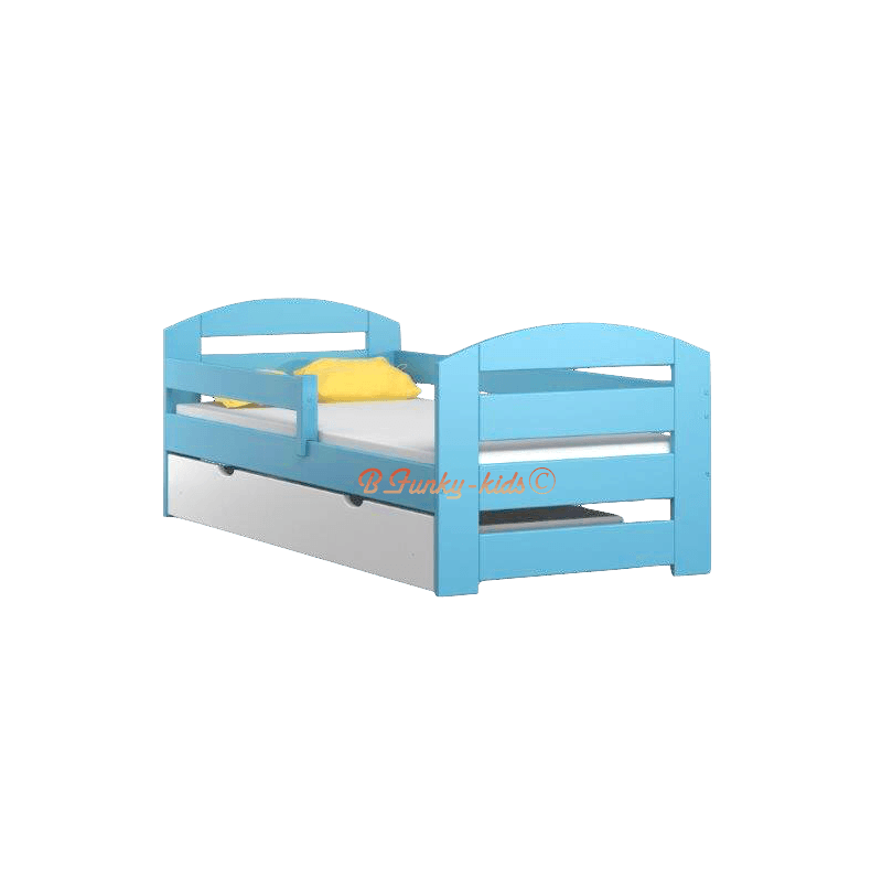 letto singolo in legno di pino massello kam3 con cassetto