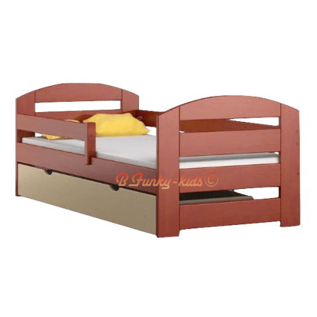 Letto singolo in legno di pino massello kam3 con cassetto 180x80 cm - Letto singolo legno ...