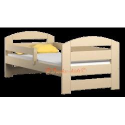 Letto singolo in legno di pino massello Kam3 180x80 cm