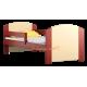 Lettino in legno di pino massello Kam4 160x80 cm