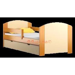 Lettino singolo in legno di pino massello con cassetto Kam4 160x70 cm