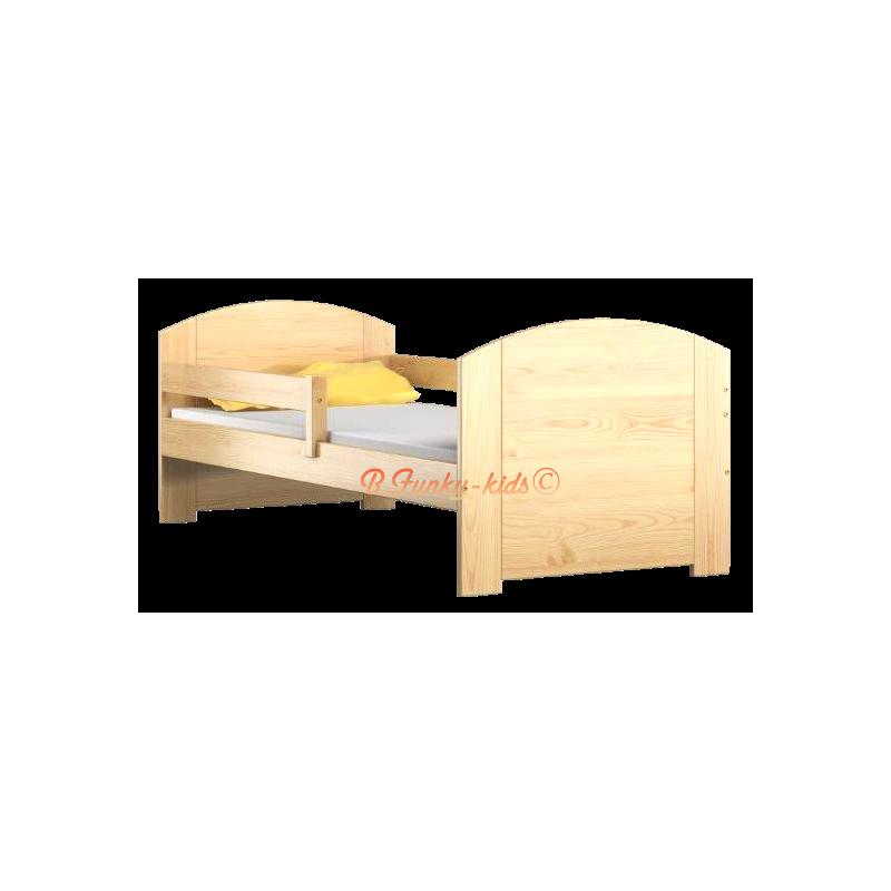 Letto singolo in legno di pino massello kam4 180x80 cm - Letto singolo in legno massello ...