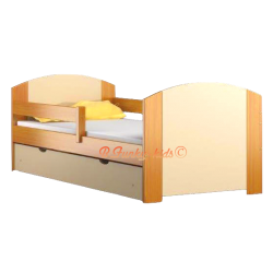 Lettino in legno di pino massello con cassetto Kam4 160x80 cm