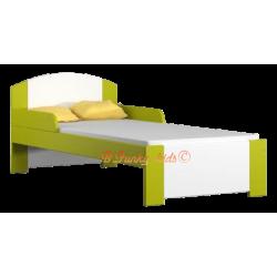 Lettino singolo bambino in legno di pino massello Bil1 160x80 cm
