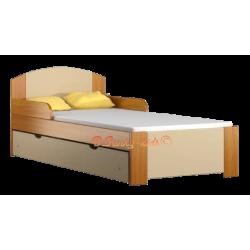 Lettino singolo bambino in legno di pino massello con cassetto Bil1 160x80 cm