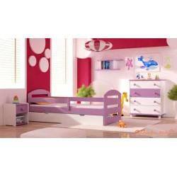 5 pezzi set di mobili in legno di pino massello Kam3 160x70 cm