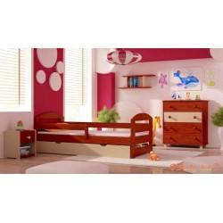 5 pezzi set di mobili in legno di pino massello Kam3 180x80 cm