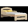 Lettino in legno di pino massello Tim1 con cassetto 160x80 cm
