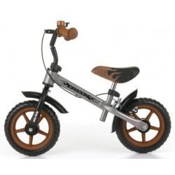 DRAGON - bici senza pedali con freno - argento