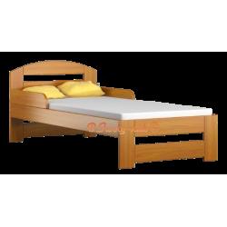 Lettino singolo bambino in legno di pino massello Tim1 160x70 cm