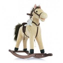 Cavallo a dondolo Mustang beige