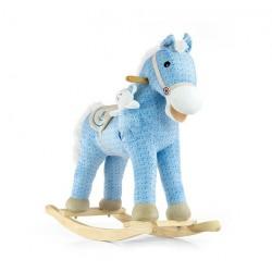 Cavallo a dondolo Pony blu