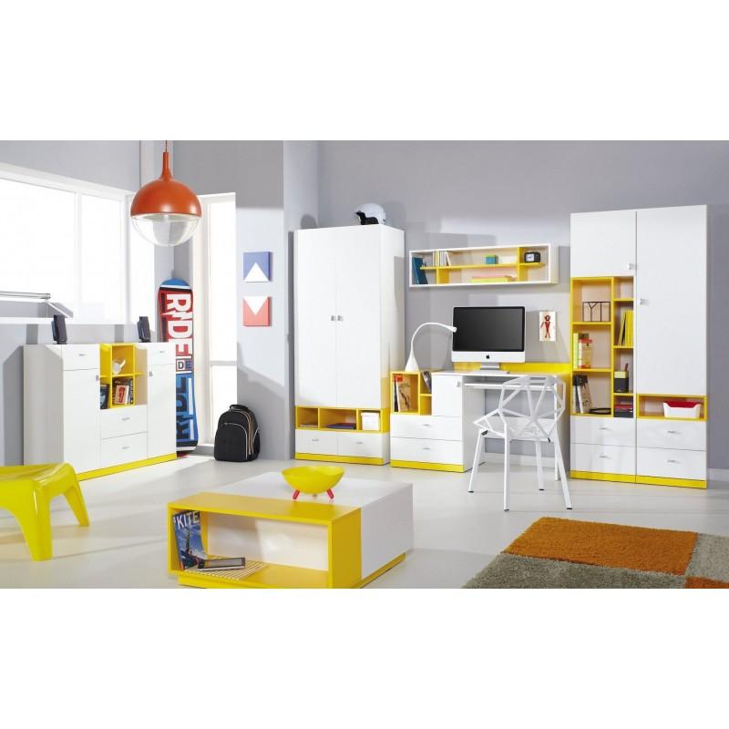 Letto a soppalco con scrivania mobby 200x90 cm letti a for Letto con soppalco
