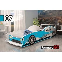 Letto macchina da corsa Formula GT con materasso 160x80