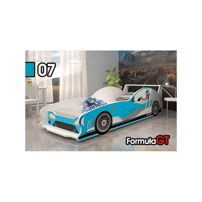 Letto macchina da corsa formula gt 160x80 cm letti a forma - Letto bimbo macchina ...