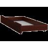 Lettino in legno di pino Timmy con cassetto 180x80 cm