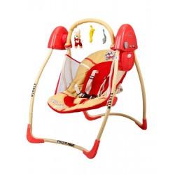 Sdraietta altalena dondolo automatico rosso