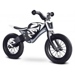 Enduro bianco-nero bici bambini in legno senza pedali