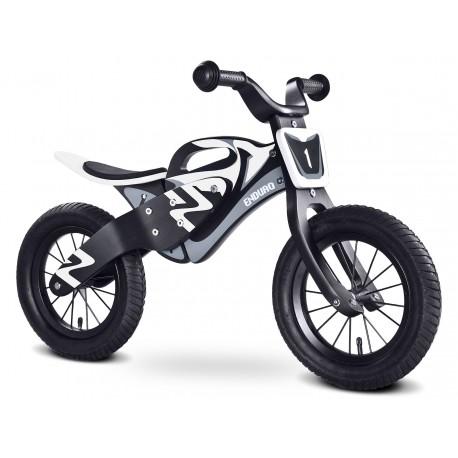 Enduro bianco nero bici bambini in legno senza pedali