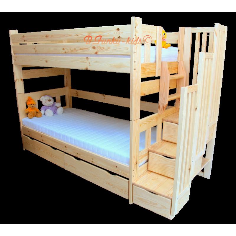 Letto a castello con scala contenitore enrique 200x90 cm letti a ca - Scaletta per letto a castello ...
