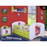Lettino singolo Happy Verde Collezione con cassetto e materasso 140x70 cm