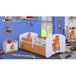 Lettino singolo Happy Arancione Collezione con cassetto e materasso