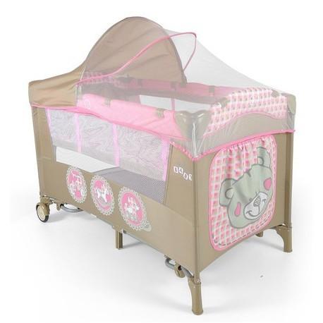Lettino da campeggio con materassino fasciatoio Mirage Giocattoli Rosa