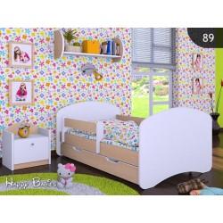 Lettino singolo Happy Collezione con cassetto e materasso