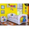Lettino singolo Bambina Collezione di Disegni con cassetto e materasso 140x70 cm