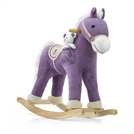 Cavallo a dondolo Pony viola